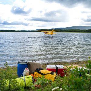 Float-plane-canoeing-adventure-canoe-yukon