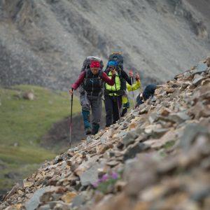 Scree-slope-hiking-yukon-Kluane